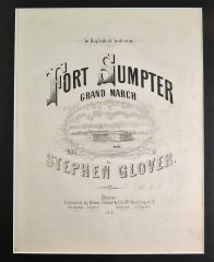 To Maj. Robert Anderson Fort Sumpter Grand March Music Sheet