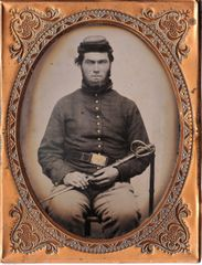 1/4 Plate Tintype of Armed Cavalryman