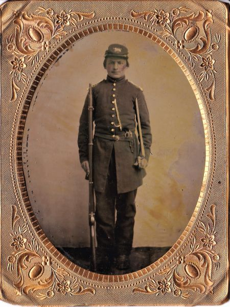 1/4th Plate Tintype of Union Private