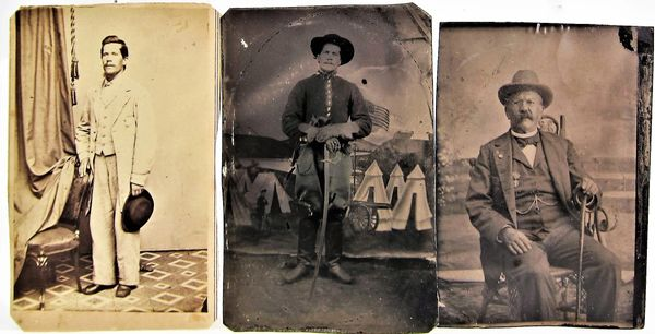 Three Photographs of William W. Harding 11th Pennsylvania Cavalry / On-hold