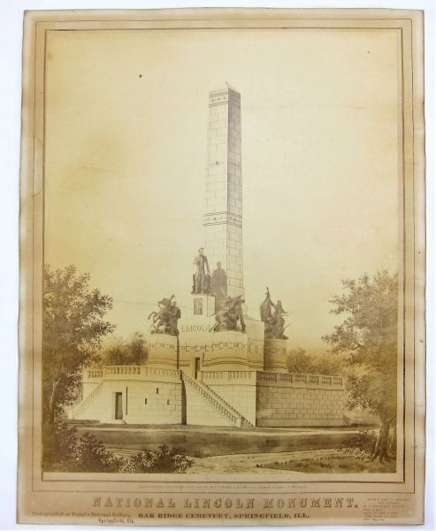 National Lincoln Monument Albumen Photograph
