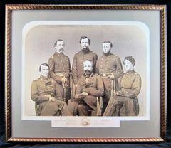 Brigadier General Robert B. Van Valkenburgh and Staff Officers