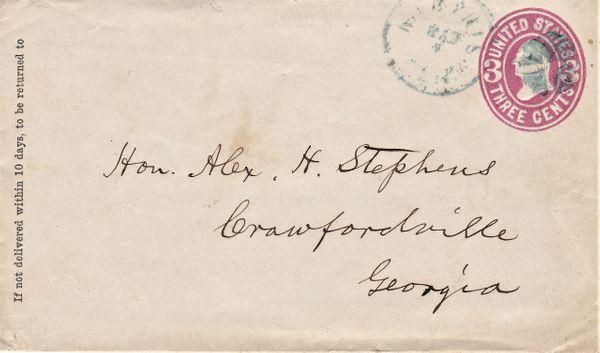 Confederate Vice President Alexander H. Stephens
