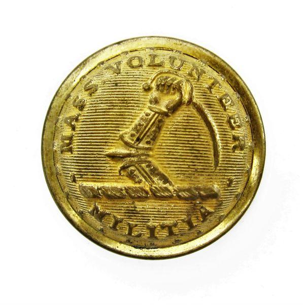 Massachusetts Volunteer Militia Coat Button