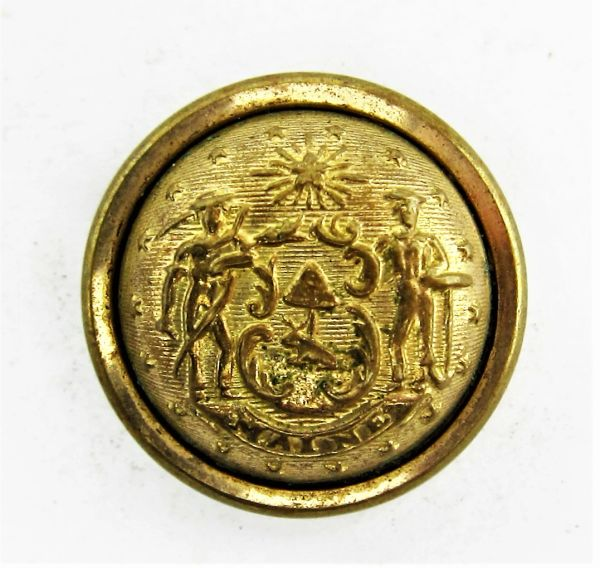 Maine State Seal Button Civil War Artifacts For Sale In Gettysburg