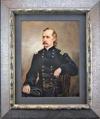 Original Oil Painting of George Armstrong Custer Painted by Noted Artist Llyod Branson