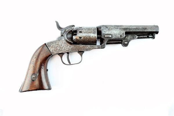 Scarce Factory Engraved Manhattan Pocket Revolver