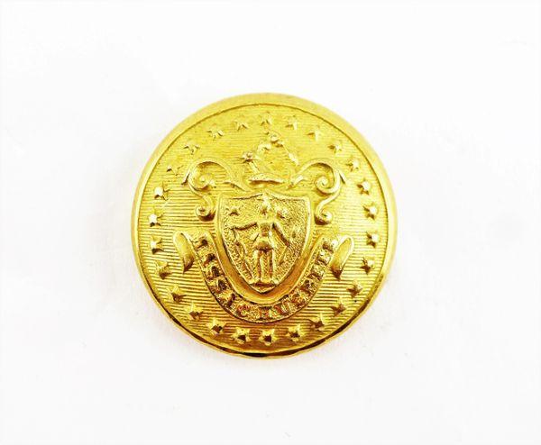 Massachusetts Officers Button / Sold
