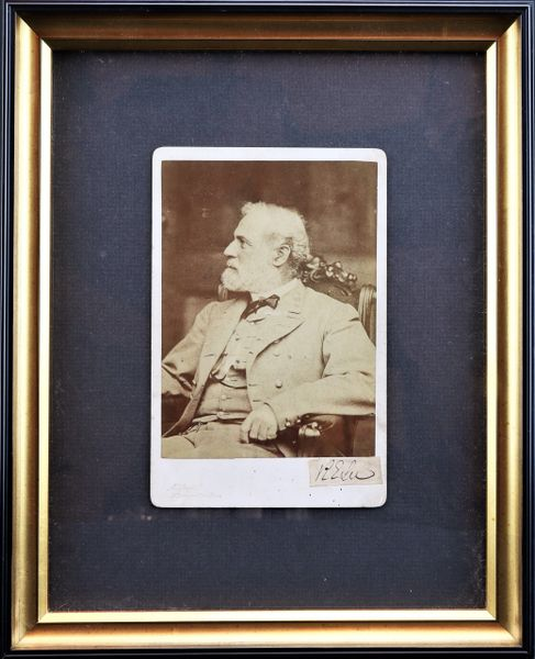 General Robert E. Lee Cabinet Card Marked Miley with Clip Signature and Signed Mildred Lee