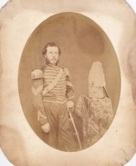Great Early Albumen of 1st Sergeant with Cavalry Saber!