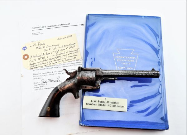 Identified Lucius W. Pond Revolver from Gettysburg Museum - SOLD