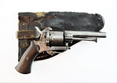 Pinfire Revolver with Holster
