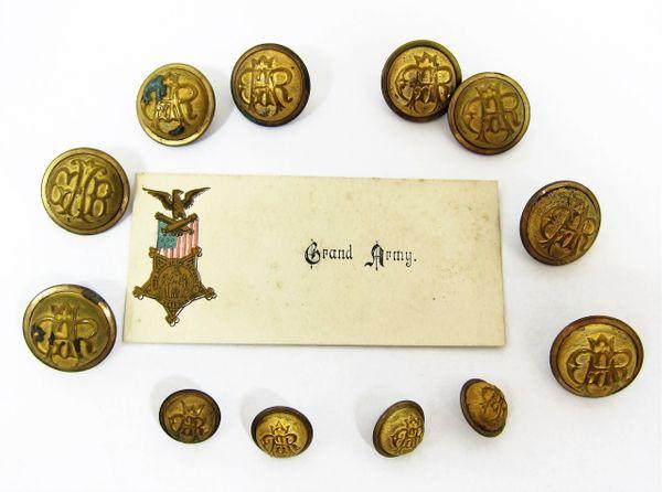 GAR Union Coat & Cuff Buttons