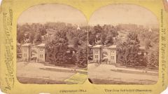 Stereoview The Battlefield Observatory, East Cemetery Hill Gettysburg, PA