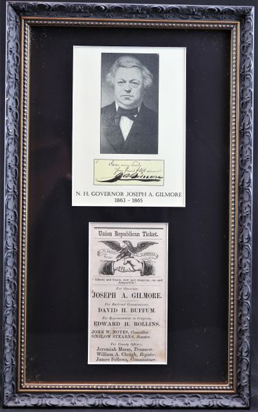 Union Republican Ticket for New Hampshire Governor Joseph A. Gilmore