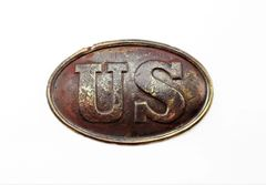 U.S. Plate Excavated from Battlefield