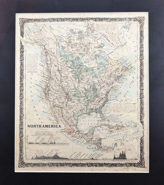 Map of North America 1858 Joseph Hutchins Colton