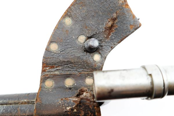 Confederate Modified Model 1855 Socket Bayonet Scabbard and Bayonet
