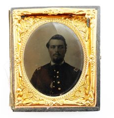 Identified Tintype of Andrew G. Bracey 2nd New Hampshire Infantry