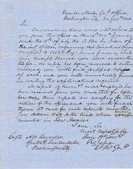 Letter Written by Brigadier General Thomas Sidney Jesup
