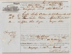 "Waybill of the Mississippi River Steamer, ""Golden Age"", bound for New Orleans with Cotton"