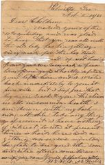 Confederate Soldier's Letter