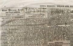 The Battles of Gettysburg Newspaper