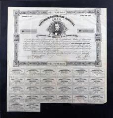 Confederate War Bond $1,000