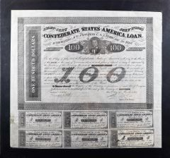 Confederate War Bond $100