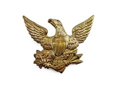 """1834 Light Infantry """"Eagle"""" Cap Plate for 1832 US Army Shako"""