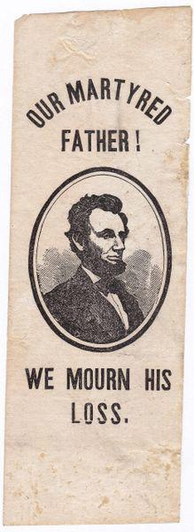 Abraham Lincoln Mourning Ribbon