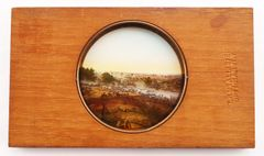 "Gettysburg Magic Lantern Slide ""Cyclorama-Genera' Pickett's Charge"""