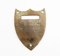 Civil War Saddle Shield