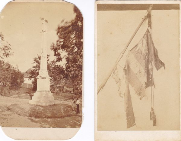 51st Pennsylvania Battle Flag and Norristown, PA Civil War Monument