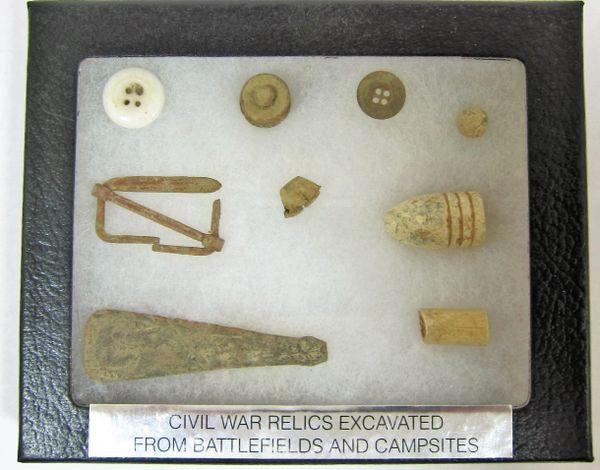 Civil War Relic Box Display