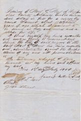 Slave Bill of Sale State of Arkansas / Sold