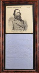 Letter of Confederate General James Longstreet / Sold