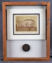 PA College Pin and Albumen Photograph
