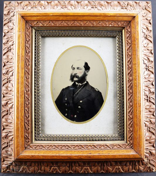 Full Plate Tintype of U.S. Navy Lieutenant