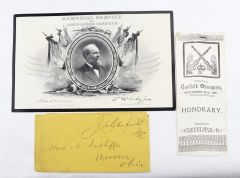 President James A. Garfield Autograph and Funeral Relics