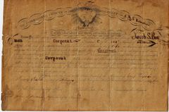 Commission to Corporal Jacob S. Bowman - 128th New York Infantry, Signed by Colonel Cowles