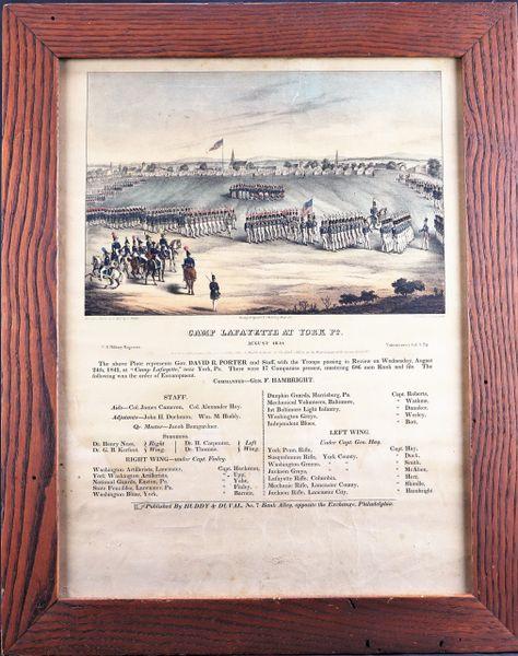 Camp Lafayette - York, PA Huddy and Duvall - 1841