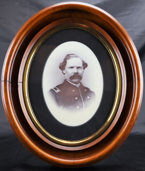 Full PLate Milk Glass Ambrotype of Lt. James H. Close