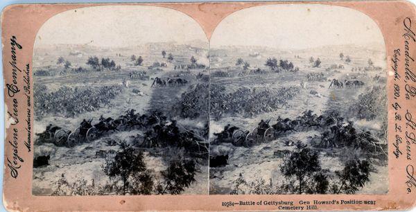 Battle of Gettysburg - Gen. Howard's Position near Cemetery Hill