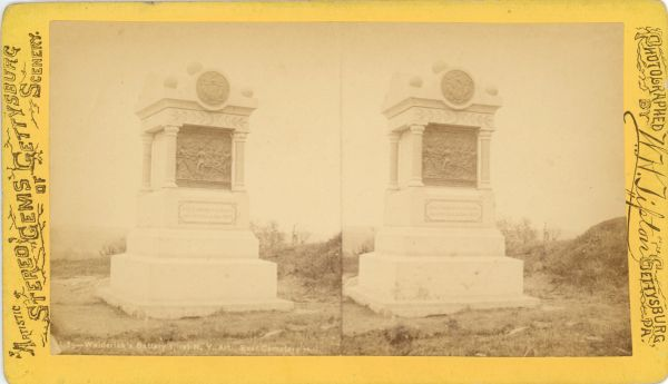 Tipton's 1st New York Monument Stereo View