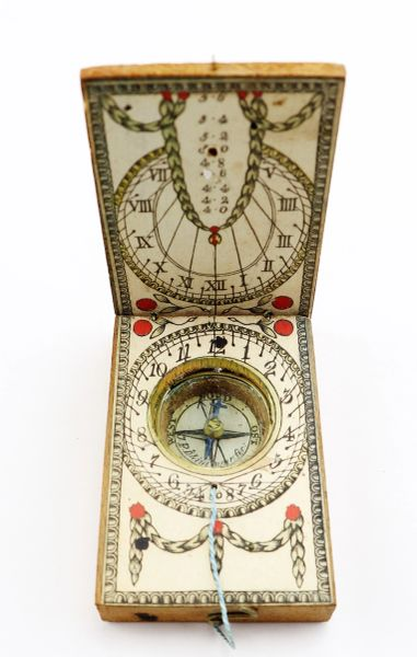 Traveling Sundial Compass, Solar Calendar Watch