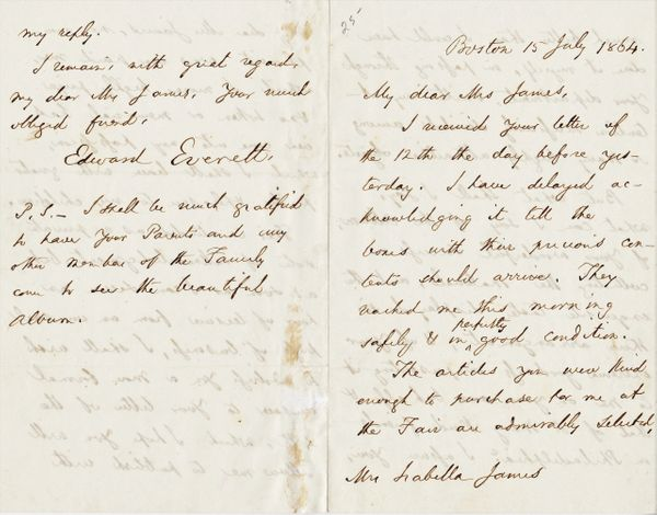 Edward Everett - War Dated Letter