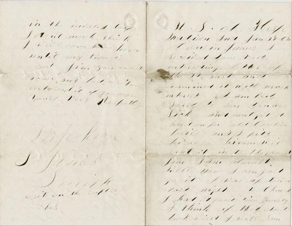 Civil War Letter Explicit Sexual Content