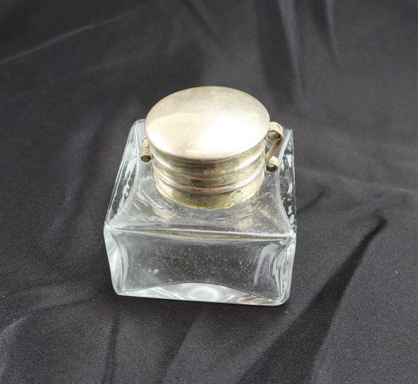 Civil War Glass Inkwell