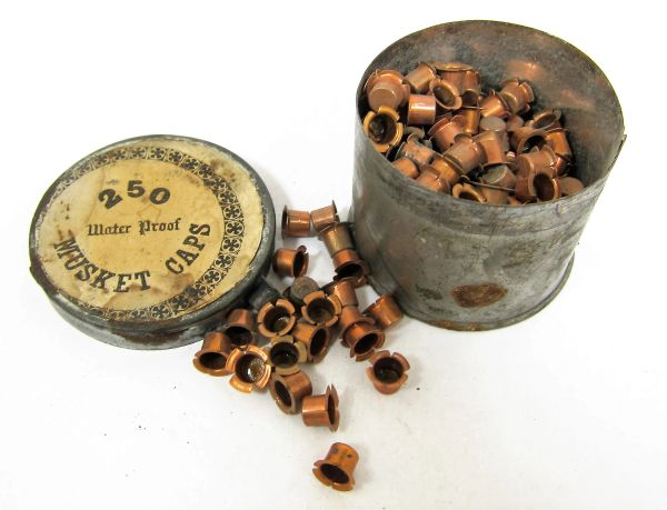 Musket Cap Tin With Caps